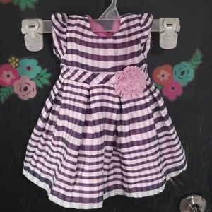 Other - Striped Dress with Flower Accent